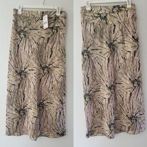 NWT Free People satin midi skirt size 10